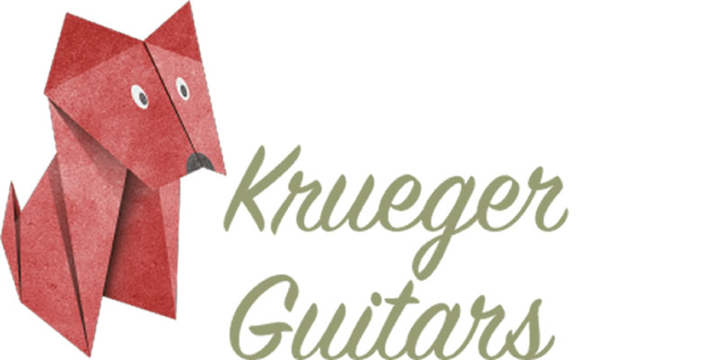 Krueger Guitars post section logo