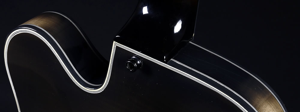 Champagne Smoke thinline Modell Hals Gelenk Detail