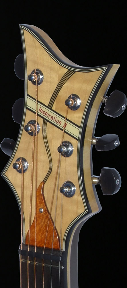 Blondie VI model headstock front view