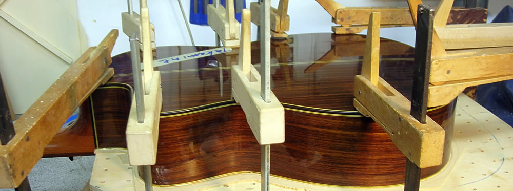 Takamine CP 132 CS new top gluing in clamps