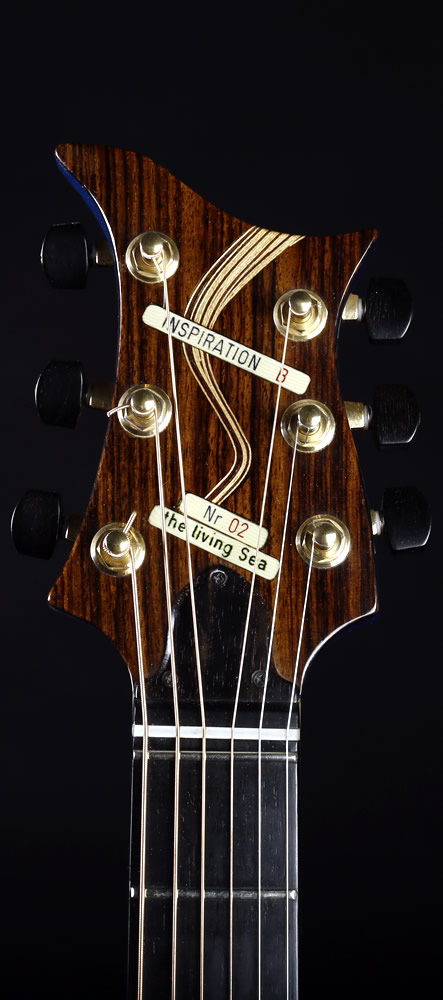 The Living Sea model headstock front view