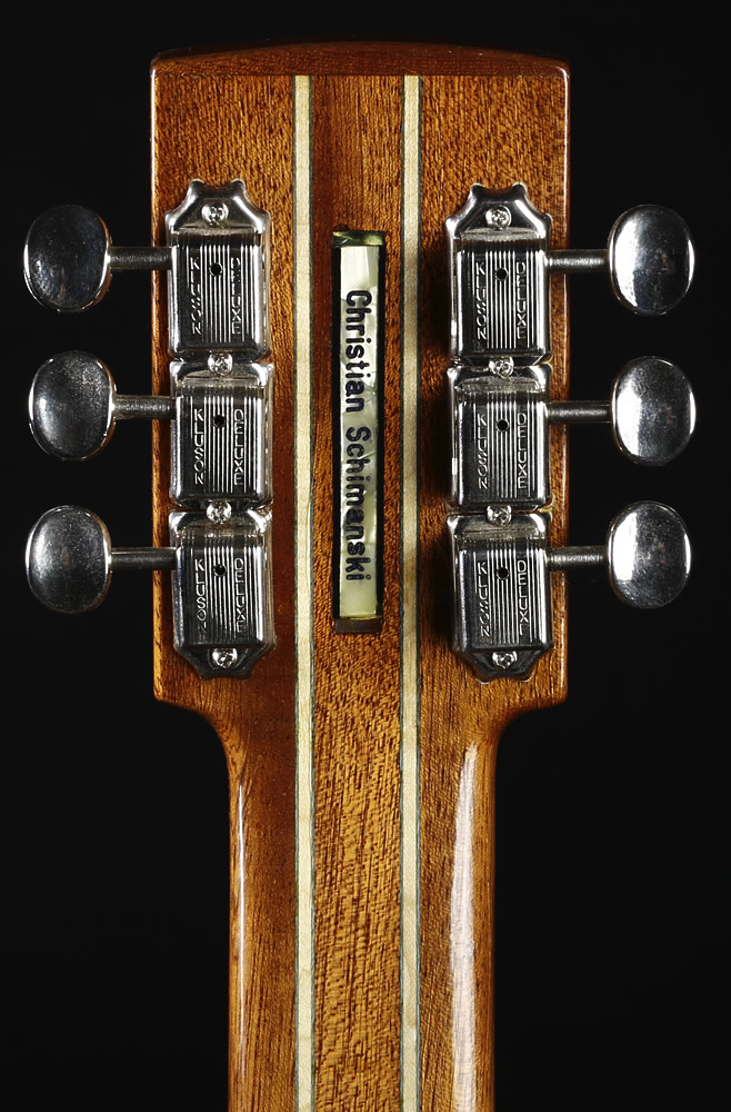 Traveller Slide Edition headstock rear view