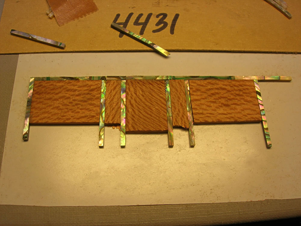 Blondie XII model laying out the recess inlay