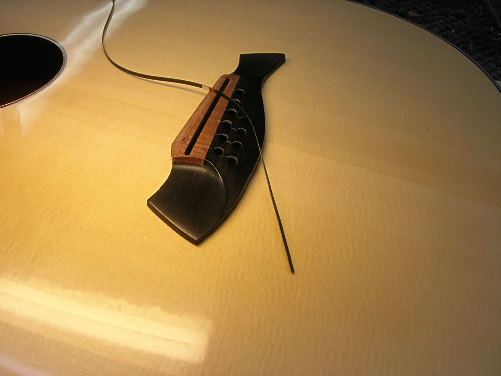 Blondie XII model Fitting a B-Band under saddle bridge pickup