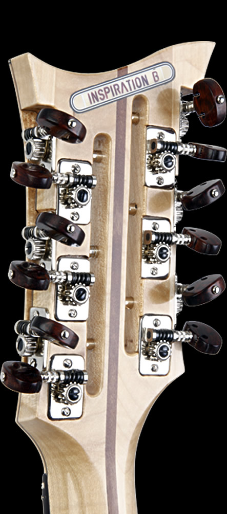 Blondie XII model headstock rear view