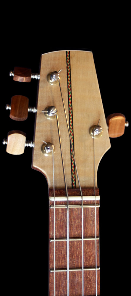 Ukulel-E model headstock front view