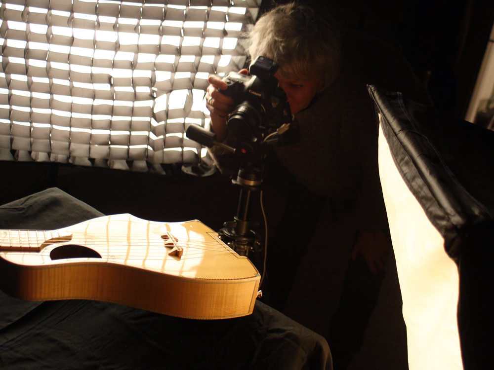Sabine Kress in action at the photo shoot for real