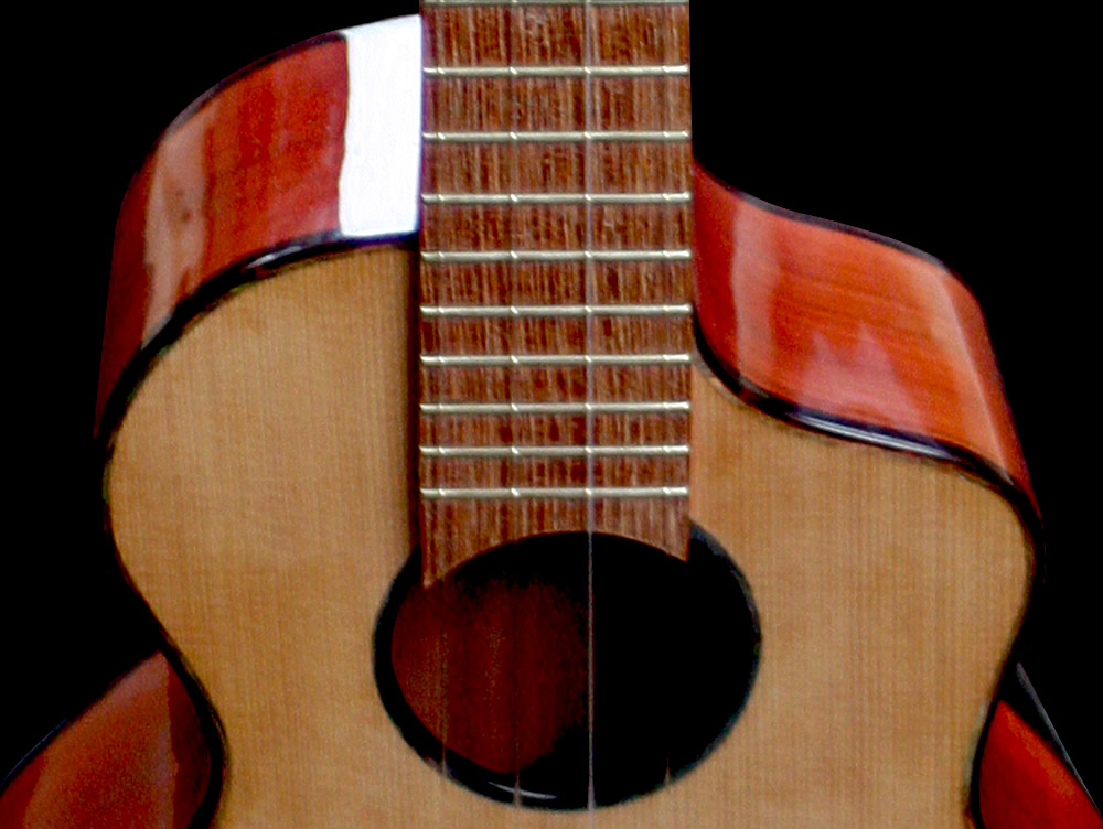 Uku-meine model cutaway and shoulder