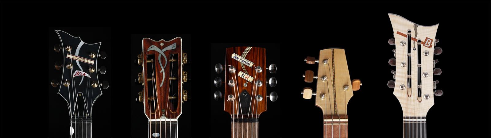 Krueger Guitars Home Page custom build banner image
