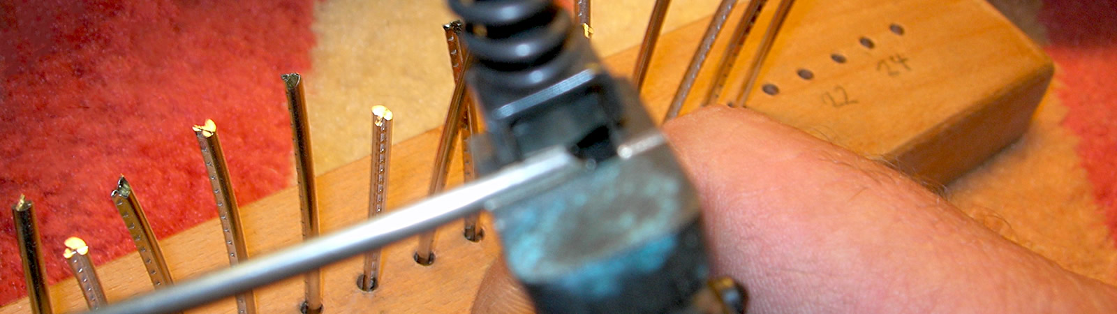 Krueger Guitars Home Page guitar repairs section banner image