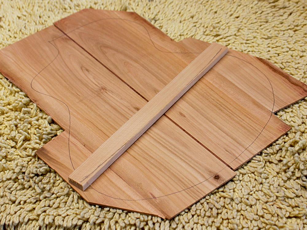 B8 ukulele model body rear panel