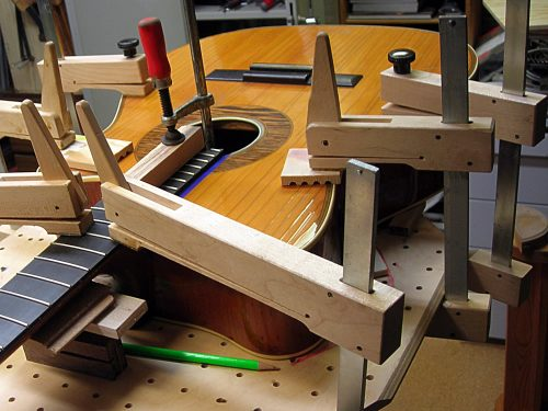Hoyer prototype new fretboard gluing
