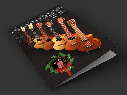 Krueger Guitars 3D Xmas Card 2017